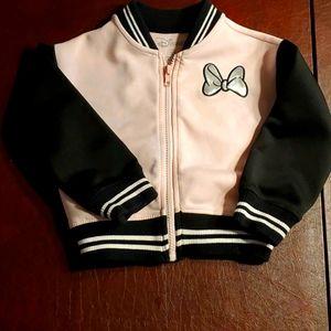 Girls 3T minnie mouse baseball jacket
